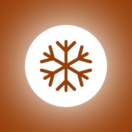 lightweight ornaments: Snowflake flat icon. Vector illustration Illustration