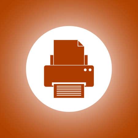 Print icon. Flat design style eps 10