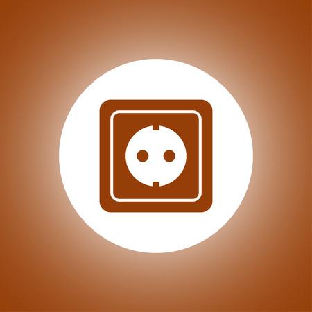 power socket icon. Flat design style Illustration