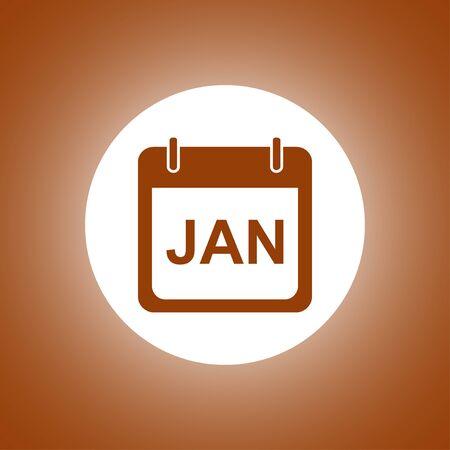 esp: Simple Calendar. Modern design flat style icon. Illustration