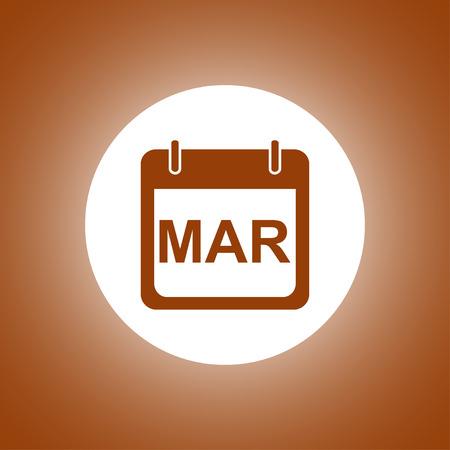 calendar design: Simple Calendar. Modern design flat style icon. Illustration