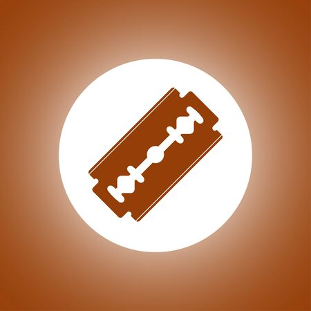 Blade razor icon. Flat design style