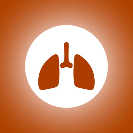 lungs icon. Flat design style