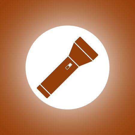 flashlight icon. Flat design style