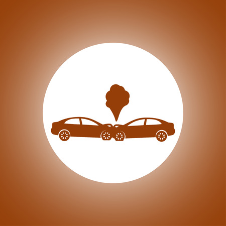 Car crash concept. Layered vector illustration. Flat Illustration