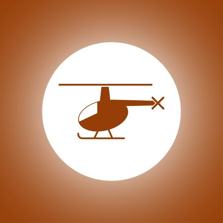 fuselage: helicopter icon. Flat design style