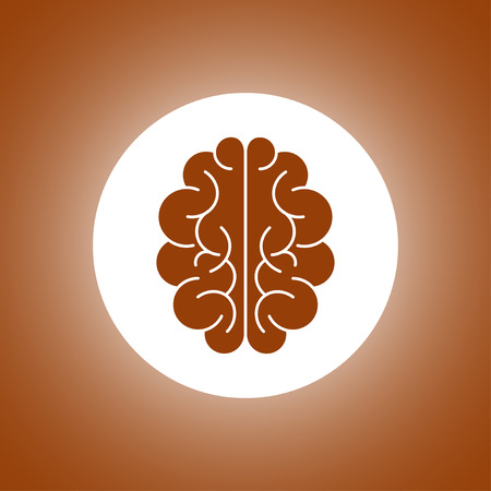 iq: Brain icon. Flat style illustration.
