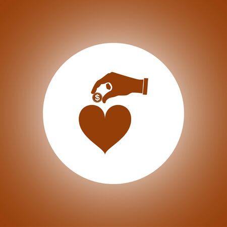 alms: give alms, web icon. vector design. Modern design flat style icon
