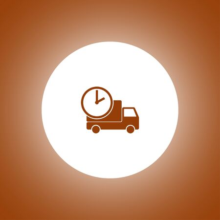 home delivery, web icon. Modern design flat style icon
