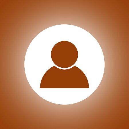 User icon vector. Flat design style Illustration