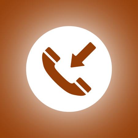 Flat icon of a phone. Flat design style Illustration