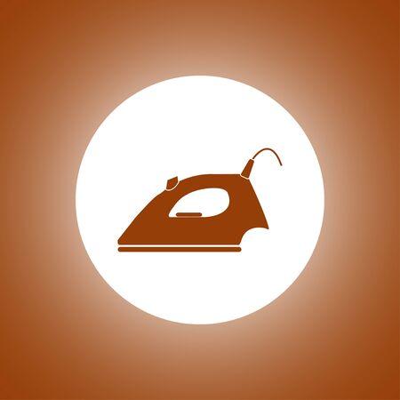 Steam iron icon. Flat design style