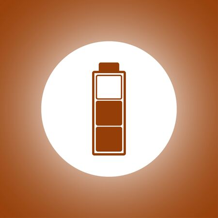 Battery icon. Flat design style