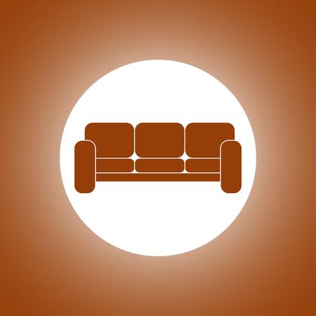baroque room: Comfortable sofa Icons. Flat design style