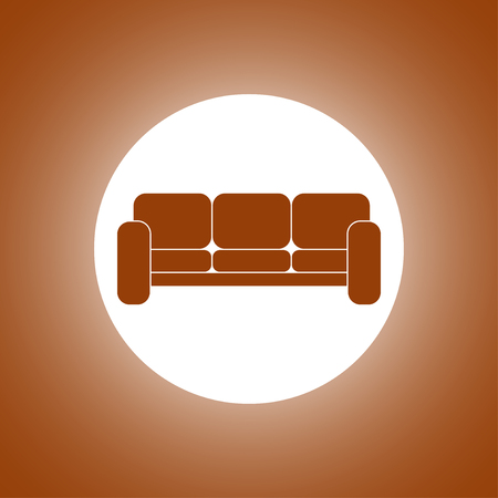 Comfortable sofa Icons. Flat design style