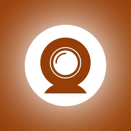 web camera icon. Flat design style