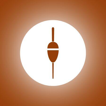 fishing bobber: Fishing sign icon. Float bobber symbol. Concept illustration for design.