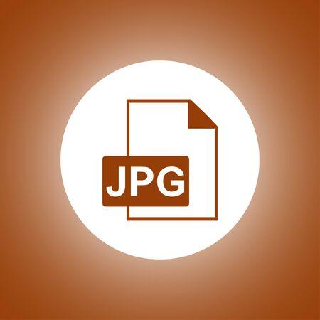 jpg: Jpg icon file vector. Flat design style
