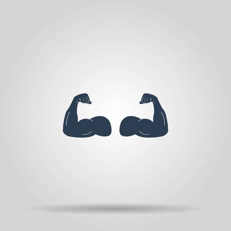 in flexed: Muscle Icon. Vector concept illustration for design.