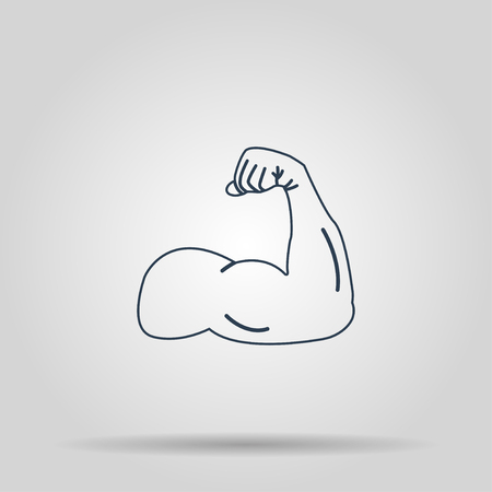 Muscle Icon. Vector concept illustration for design.