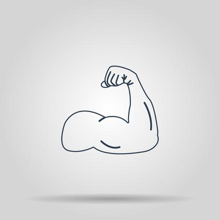 flex: Muscle Icon. Vector concept illustration for design.