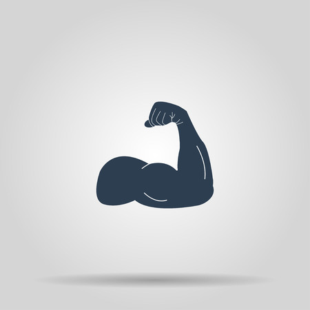 flexed: Muscle Icon. Vector concept illustration for design.