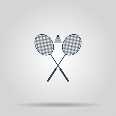 Badminton icon. Vector concept illustration for design.