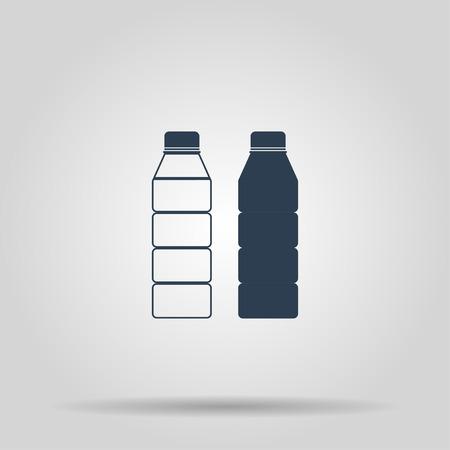 nonalcoholic: Plastic bottle icon. Concept illustration for design.