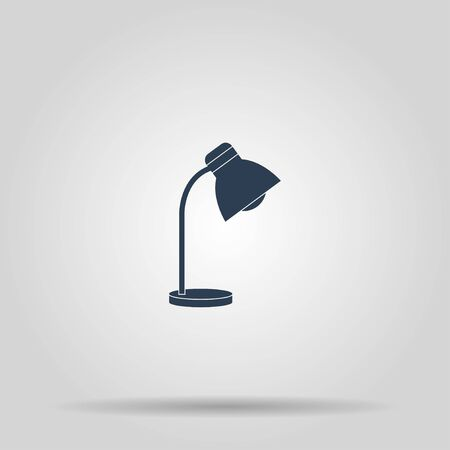 lamplight: Reading-lamp. Single flat icon. Concept illustration for design.