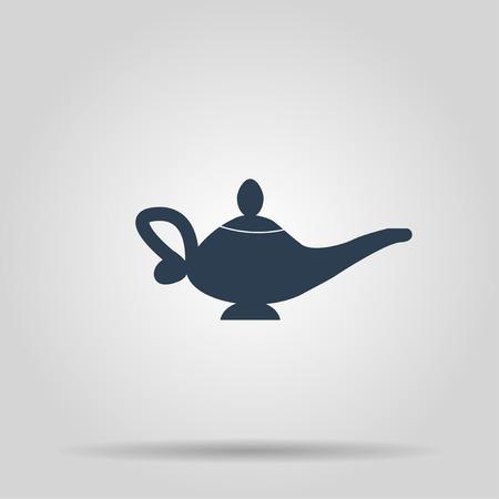 lampara magica: Icono de la l�mpara m�gica. Ilustraci�n de concepto para el dise�o. Vectores