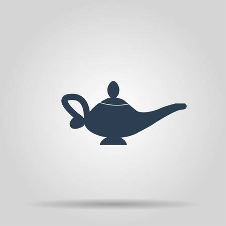 Magic lamp Icon. Concept illustration for design.