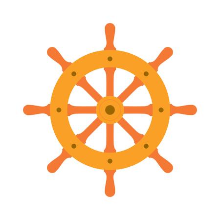 ship steering wheel: Ship steering wheel sign icon, vector illustration. Flat design style