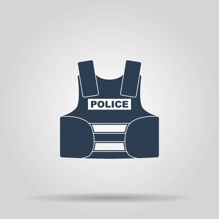 bullet proof: bullet proof vest. body armor suit. protect - vector illustration