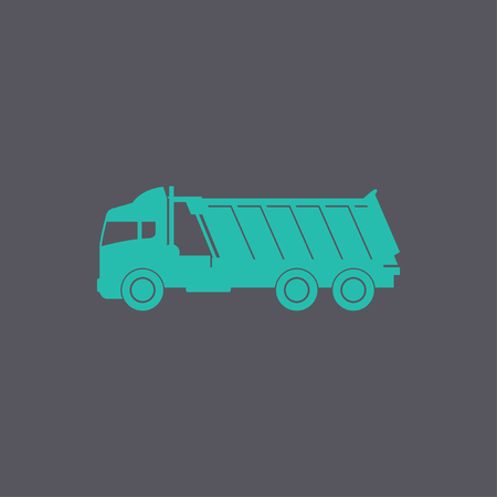 mine site: Truck icon. Vector concept illustration for design Illustration