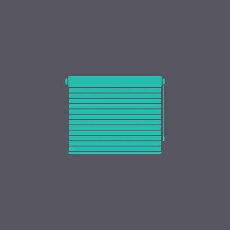 roll curtains: Louvers rolls sign icon. Window blinds or jalousie symbol. Circle flat button with shadow. Modern UI website navigation