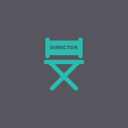 s video: director chair icon. Concept illustration for design.
