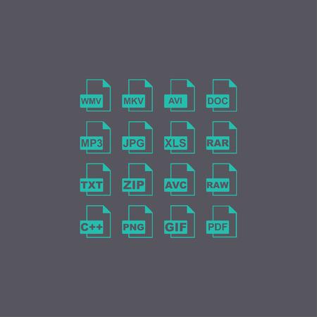 csv: File Icons. Vector concept illustration for design. Illustration