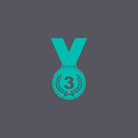 conquering: Medal icon. Vector concept illustration for design.