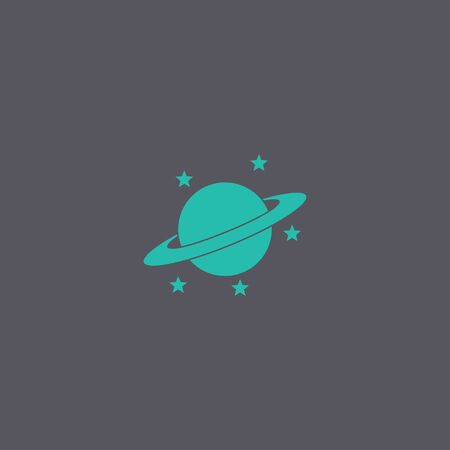 jupiter: Jupiter planet icon. Modern design flat style Illustration