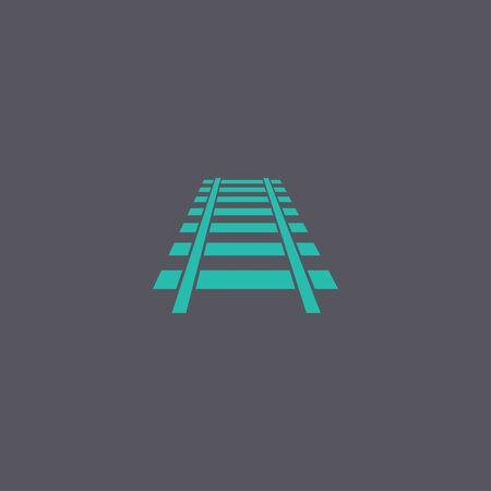 locomotion: Railroad icon. Modern design flat style