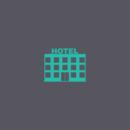 apartment bell: hotel icon. Vector concept illustration for design.