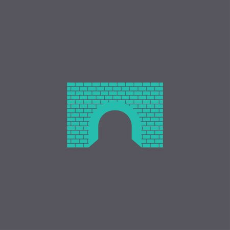 highway tunnels: Tunnel icon. Vector concept illustration for design.