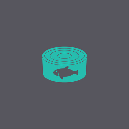 canned food: cans - canned food. Vector concept illustration for design. Illustration