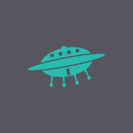 area 51: UFO icon. Flat design style Illustration