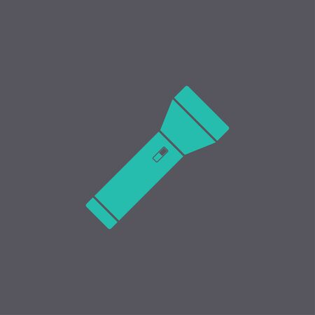 lighten: flashlight icon. Flat design style