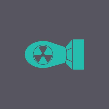 atomic bomb: The atomic bomb icon. Flat design style eps 10