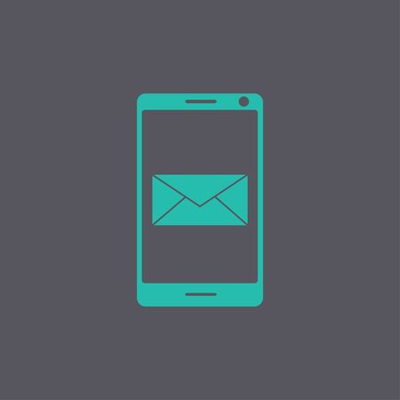 simbol: Smartphone email or sms icon. Mobile mail sign simbol.