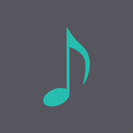 crotchets: Music note icon - Vector. Flat design style eps 10 Illustration