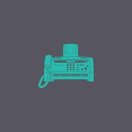 fax machine: Fax machine icon, vector eps 10 illustration