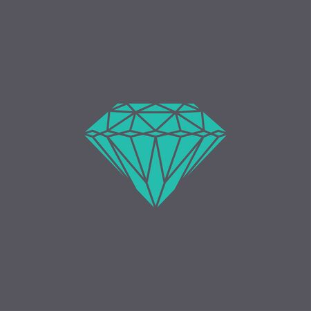 Diamond icon - Vector illustration EPS 10 flat